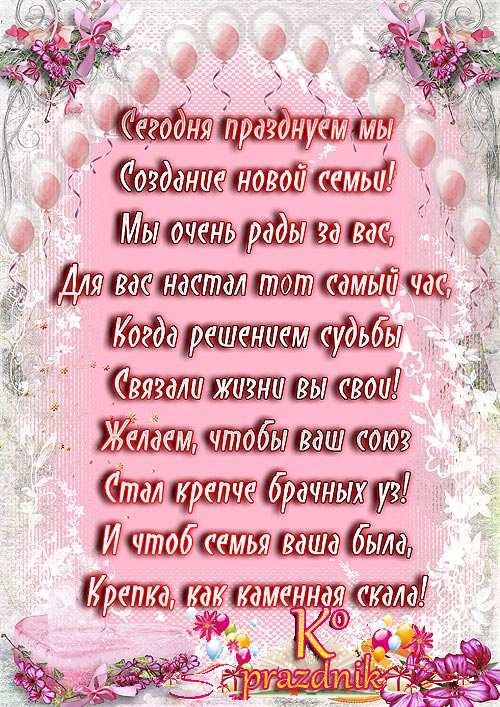 Красивые поздравления на свадьбу в прозе на украинском языке